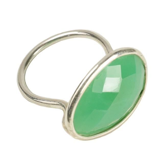 Esme Ring Chrysoprase Silver