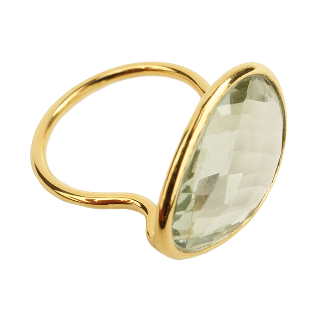 Esme Ring Green Amethyst