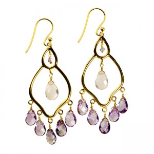 Jasmine Earrings Amethyst Rose Quartz