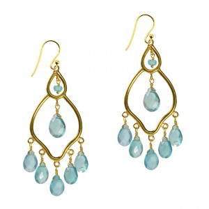 Jasmine Earrings Apatite