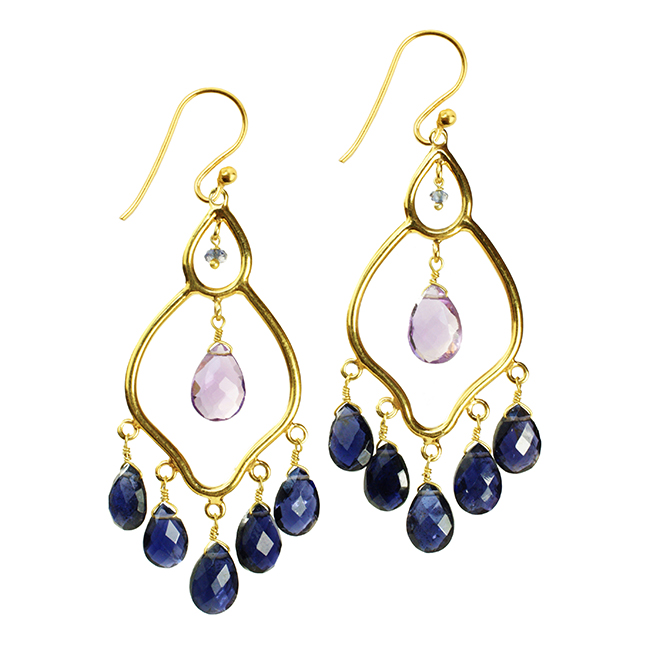 Jasmine Earrings Iolite Amethyst