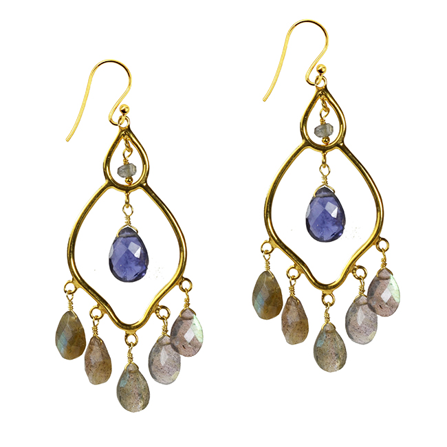 Jasmine Earrings Labradorite Iolite