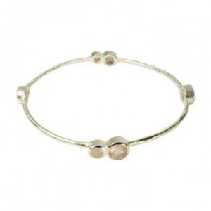 Julep Bangle Pink Chalcedony Silver