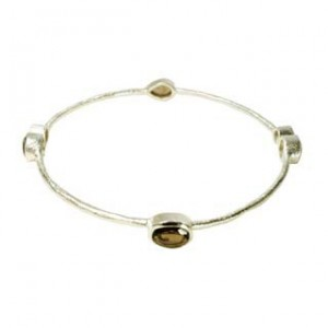 Julep Bangle Smoky Quartz Silver