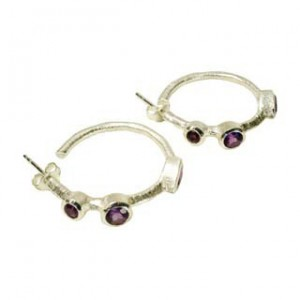 Julep Earrings Amethyst Silver