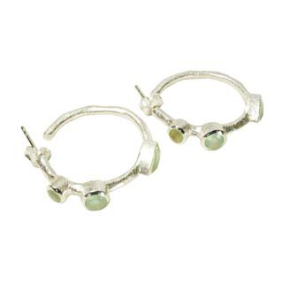 Julep Earrings Aqua Chalcedony Silver