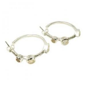 Julep Earrings Moonstone Silver