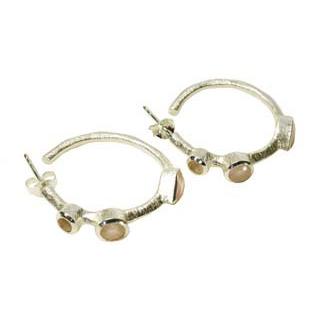 Julep Earrings Pink Chalcedony Silver