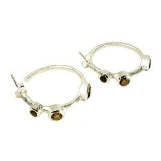 Julep Earrings Smoky Quartz Silver