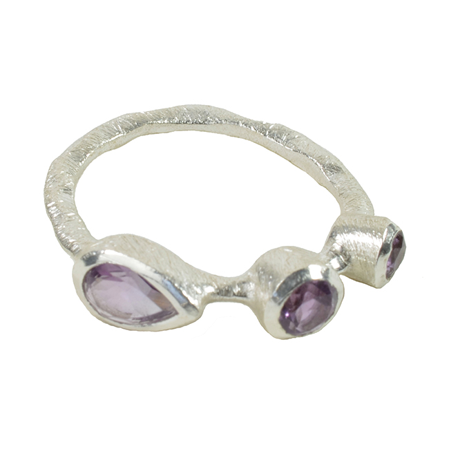 Julep Ring Amethyst Silver