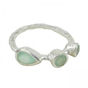 Julep Ring Aqua Chalcedony Silver