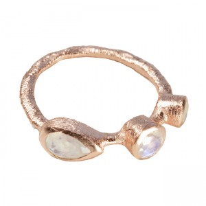 Julep Ring Moonstone Rose Gold