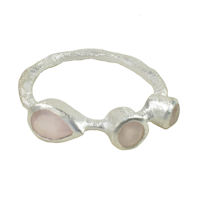 Julep Ring Pink Chalcedony Silver