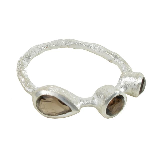 Julep Ring Smoky Quartz Silver