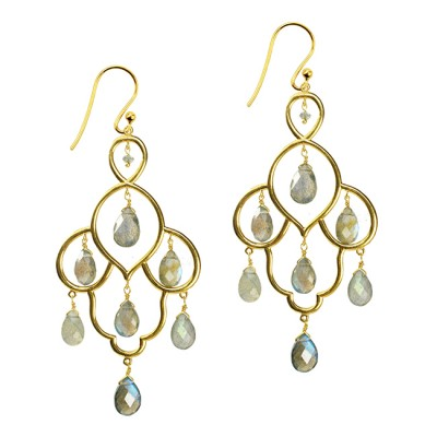 Layla Earrings Labradorite