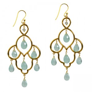 Layla Earrings Aqua Chalcedony