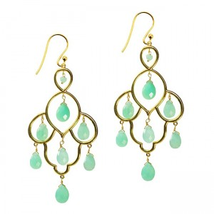 Layla Earrings Chrysoprase