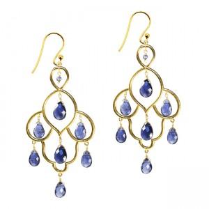 Layla Earrings Iolite