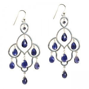 Layla Earrings Iolite Silver