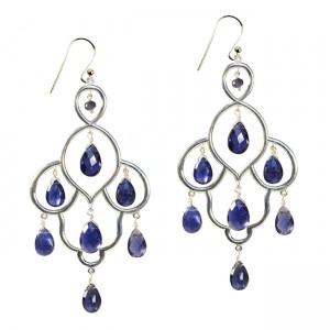 Layla Earrings Iolite Silver