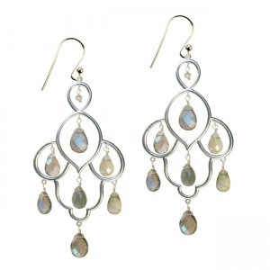 Layla Earrings Labradorite Silver