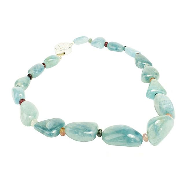 Sofia Necklace Aquamarine Peridot