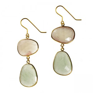 Talitha Earrings Andesine Aquamarine