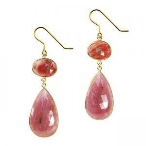 Talitha Earrings Andesine Pink Sapphire