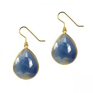 Talitha Earrings Blue Sapphire