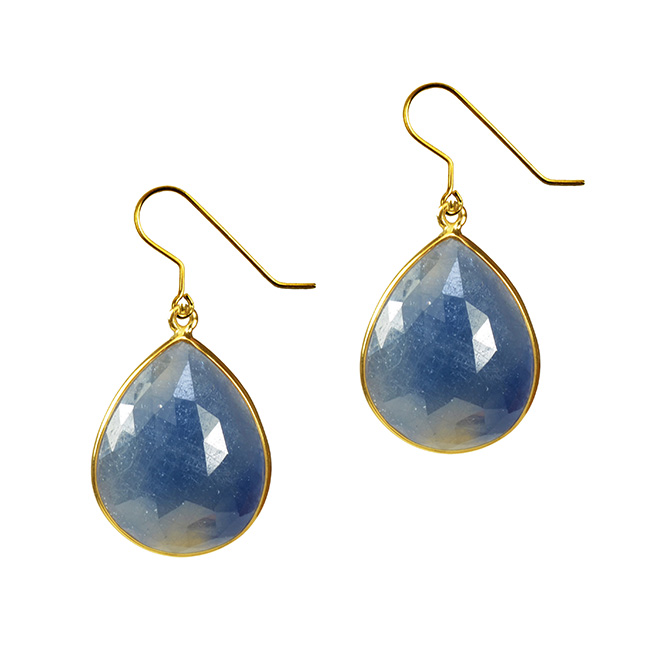 Talitha Earrings Blue Sapphire