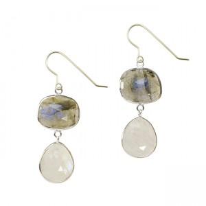 Talitha Earrings Labradorite Moonstone Silver