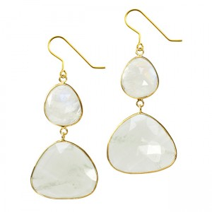 Talitha Earrings Moonstone Aquamarine