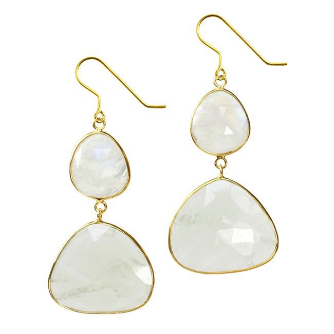 Talitha Earrings Moonstone Aquamarine