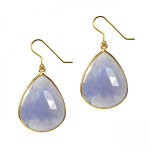 Talitha Earrings Natural Chalcedony
