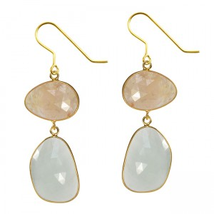 Talitha Earrings Honey Sapphire Aquamarine