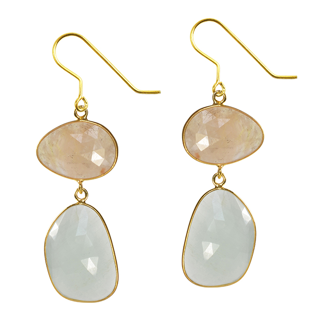 Talitha Earrings Honey Sapphire Aquamarine