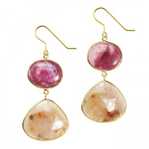Talitha Earrings Ruby Honey Sapphire