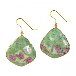 Talitha Earrings Ruby Zoisite