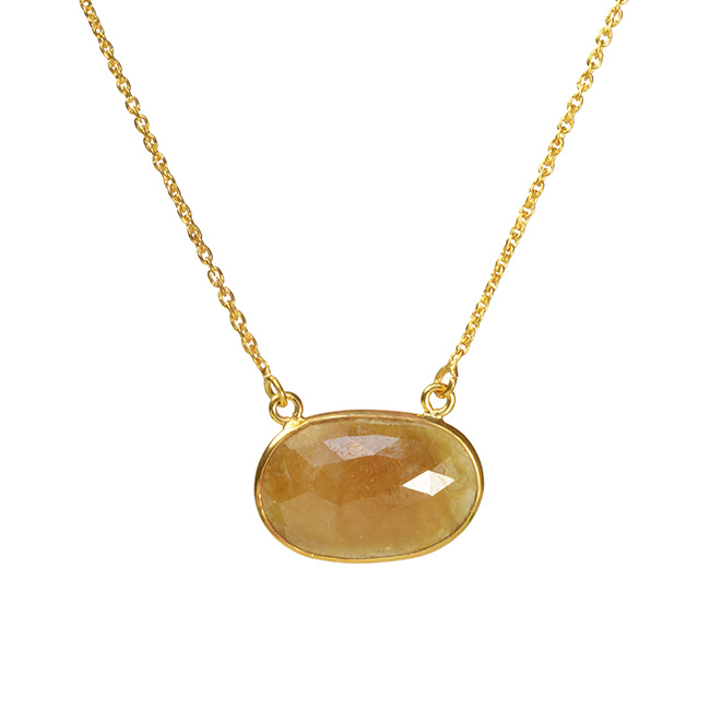 Talitha Necklace Honey Sapphire