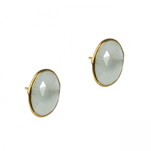 Talitha Stud Earrings Aquamarine