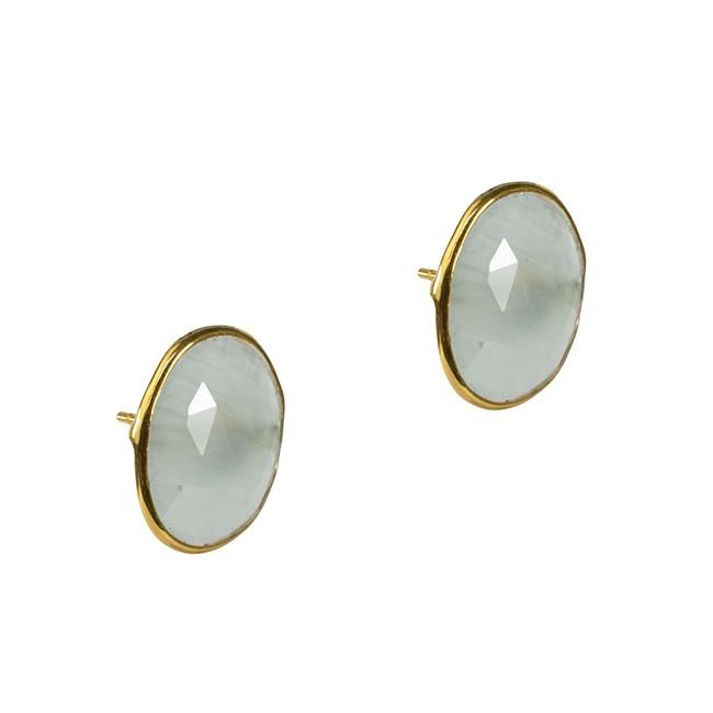 Talitha Stud Earrings Aquamarine
