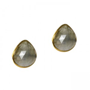 Talitha Stud Earrings Labradorite