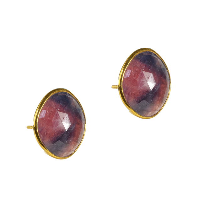 Talitha Stud Earrings Multi Sapphire