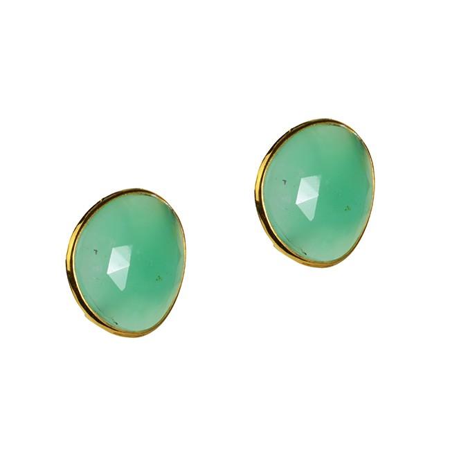 Talitha Stud Earrings Chrysoprase