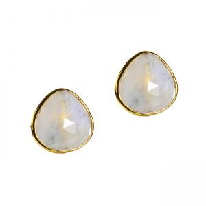Talitha Stud Earrings Moonstone