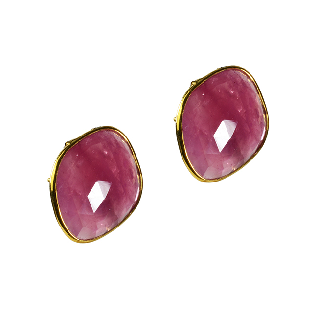 Talitha Stud Earrings Ruby