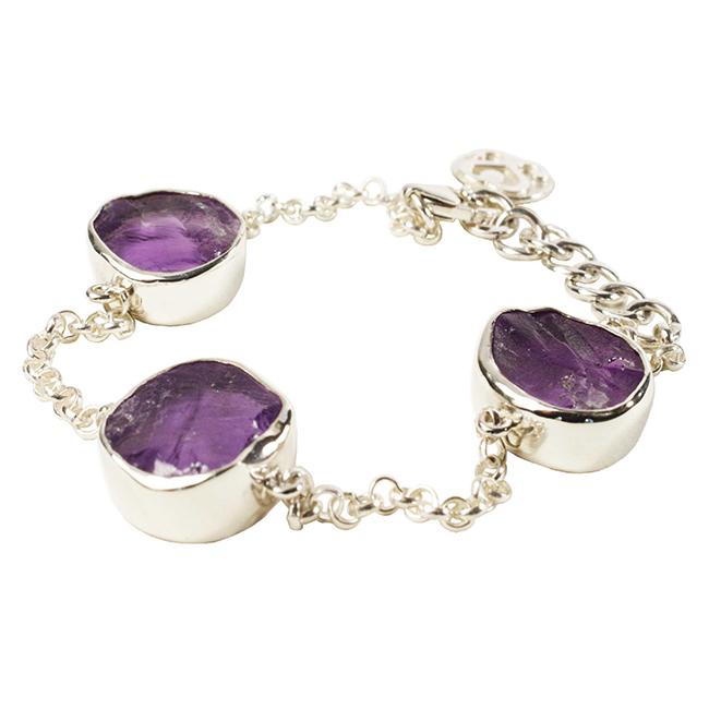 Tallulah Bracelet Silver Amethyst