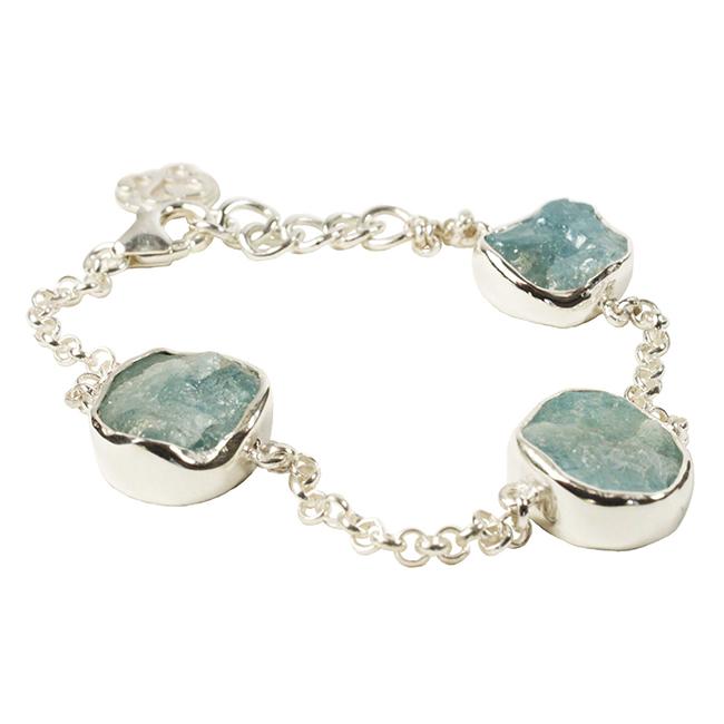 Tallulah Bracelet Silver Aquamarine