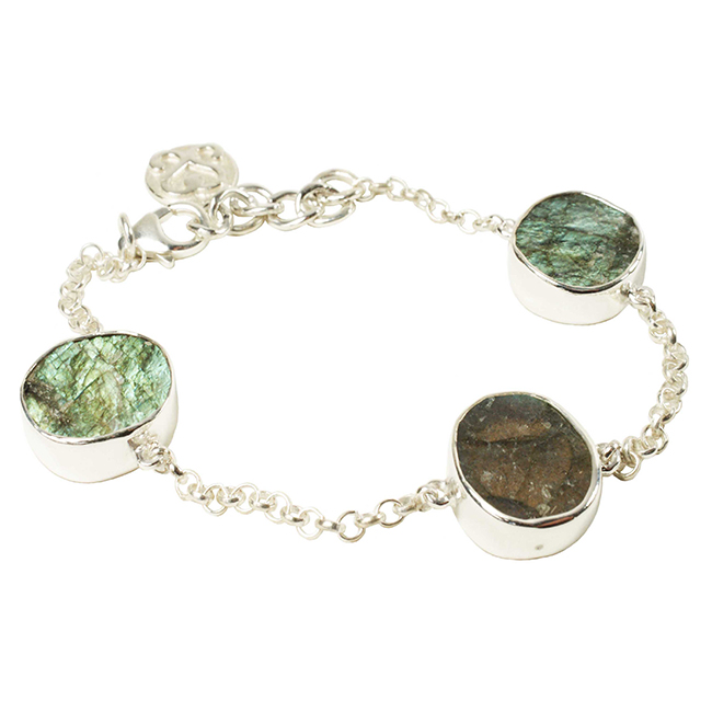 Tallulah Bracelet Silver Labradorite