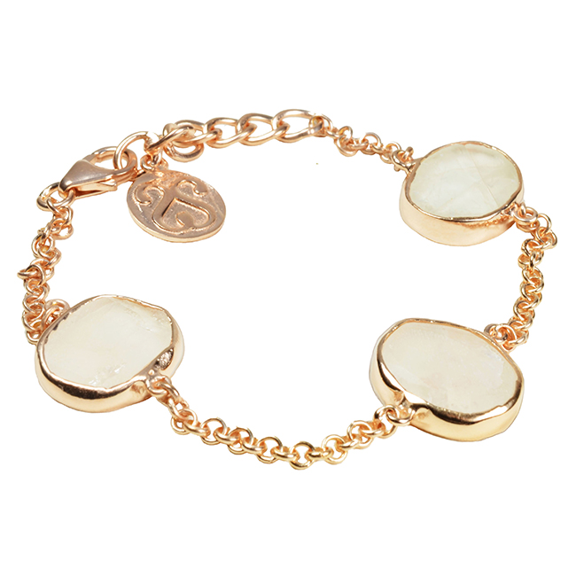 Tallulah Bracelet Moonstone Rose Gold